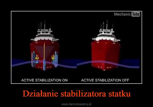 Działanie stabilizatora statku –